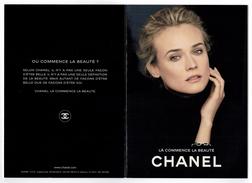 Cartes Parfumées Carte CHANEL   LA COMMENCE LA BEAUTÉ   De   CHANEL 4  RECTO VERSO - Modern (vanaf 1961)