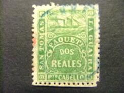 SAINT-THOMAS LA GUAIRA 1864 BATEAU POSTE BARCO De CORREOS Yvert Nº 9 º FU - América Central
