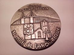 MEDAILLE BRONZE DE SAINT BREVIN AU MIDI DE L'ARMORIQUE GRAVEUR A IDENTIFIER DIAMETRE 6.6 CM 153.63 G - Tourist