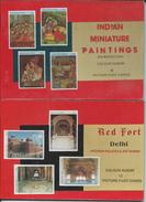 Lot De 2 Carnets  De 12CP - Inde - Indian - Miniature Paintings & Red Fort Delhi - Dubai