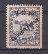 1921 - OCCUPAZIONE - FIUME - USATO - CATALOGO SASSONE - N.166 (252) - Fiume