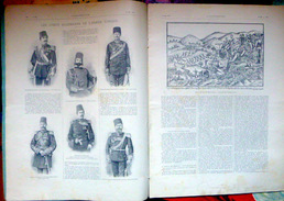 TURQUIE TURQUEY GUERRE GRECO TURQUE  BATAILLE DE  VELESINO  LES OFFICIERS ALLEMANDS  DE L'ARMEE TURQUE MAI 1897  PHOTOS - Riviste & Giornali