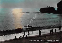 Cartolina - Cittadella Del Capo Spiaggia Tramonto Animata 1953 - Cosenza