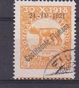 1921 - OCCUPAZIONE - FIUME - USATO - CATALOGO SASSONE - N.167 (253) - Fiume