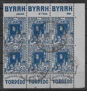 1938-41   Algérie N° 137 Ab  Oblitérés. Avec Double Bande Publicitaire BYRRH Et TORPEDO - Argelia (1924-1962)
