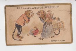 SCHURER JULIUS FIL A COUDRE CALENDRIER 1895 AU VERSO - Publicités