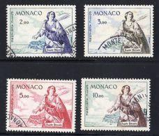 MONACO Air Mail St. Devote Sc# C55-C58 Used Cv$50 Bird Dove Michel#653-6 $70 - Monaco