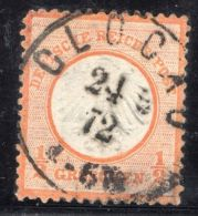 GERMANY REICH EAGLE Michel #14 CV$67 USED STAMP CENTRATED & CLOCAU SON CANCEL - Unclassified