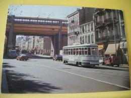 TRAIN 4912 - VUE N° 10/36 - SERIE DE 36 CARTES SUR LES TRAMWAYS DE SAINT ETIENNE DANS LA LOIRE - Tramways