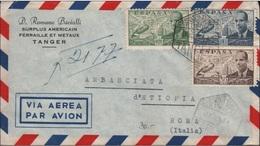 SPAIN - RECO TANGER -> ROMA/ITALY 1953 - Aéreo