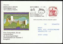 Germany Lorch 1979 / International Year Of Children / Child / Flower / UN Donaupark Wien / Machine Stamp - Childhood & Youth