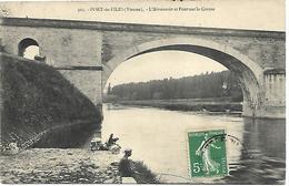 PORT DE PILES - L'Abreuvoir Et Pont Sur La Creuse - Pêcheur - France