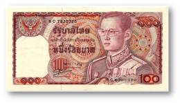THAILAND - 100 Baht - ND ( 1978 ) - Pick 89 - Sign. 56 - Serie 9 C - King Rama IX - 2 Scans - Thailand