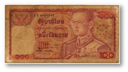 THAILAND - 100 Baht - ND ( 1978 ) - Pick 89 - Sign. 57 - Serie 2 E - King Rama IX - 2 Scans - Thailand