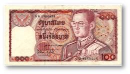 THAILAND - 100 Baht - ND ( 1978 ) - Pick 89 - Sign. 60 - Serie 0 A - King Rama IX - 2 Scans - Tailandia