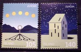 ICELAND # 1169-1170. Europa - Sun & Shadows, Observatory.  MNH (**) - 1944-... Republic