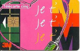 CARTE°-PRIVEE-5U-GN-286-GEMA-12/96-SCOTCH   POST IT--UTILISE-TBE - France