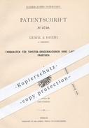 Original Patent - Grahl & Hoehl , Dresden 1878 , Farbkasten Für Tapeten - Druckmaschinen | Papier , Druck , Papierfabrik - Historical Documents