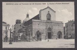 74642/ MESSINA Prima Del Terremoto 1908, Duomo E Fontana Montorsoli - Messina