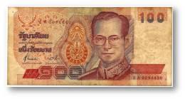THAILAND - 100 Baht - ND ( 1994 ) - Pick 97 - Sign. 72 - Serie 5 A - King Rama IX - 2 Scans - Tailandia