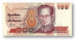 THAILAND - 100 Baht - ND ( 1994 ) - Pick 97 - Sign. 72 - Serie 5 B - King Rama IX - 2 Scans - Tailandia