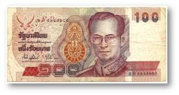 THAILAND - 100 Baht - ND ( 1994 ) - Pick 97 - Sign. 74 - Serie 2 G - King Rama IX - 2 Scans - Thaïlande