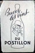 BUVARD ALCOOL VIN DU POSTILLON UN COIN CASSE SINON  BON ETAT - Liquor & Beer