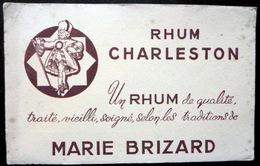 BUVARD ALCOOL RHUM CHALERSTON MARIE BRIZARD   BON ETAT - Liqueur & Bière