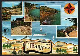 Carte Géographique De Sainte Marie Sur Mer - Pormain - Mombeau - Le Porteau - Multivues - GUITTENY - 1971 - France