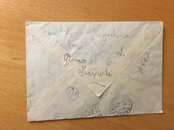 BUSTA  POSTALE-TRIPOLI X NAPOLI-POSTA AEREA-21-8-1940 - Tripolitania
