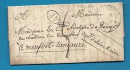 Sarthe - Sablé ->comtesse Adolphe De Rougé, Chateau Du Tremblay à Montfort L'amaury (Seine Et Oise) écrite à Boisdauphin - Poststempel (Briefe)