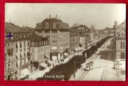 PRQ-11 La Chaux-de-Fonds, Rue Léopold-Robert. Tramway, ANIME. Cachet 1923 - NE Neuenburg