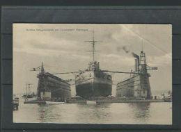 1910s  Deutschland - Grosses Schwimmdock Mit Linienschiff Thüringien - Nicht Circulated -knick In Obere Rechte Ecke HJ16 - Guerra