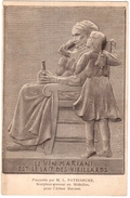 CPA.LE VIN MARIANI EST LE LAIT DES VIEILLARDS.PLAQUETTE PAR M.L.PATRIARCHE SCUPTEUR GRAVEUR - France