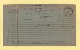 Baudoncourt - Haute Saone - Telegramme - 12-8-1963 - Storia Postale