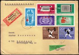 Germany DDR Potsdam 1966 / Weightlifting / Red Cross / Leipzig Fair