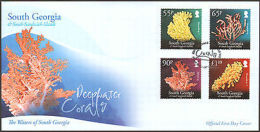 2009 SOUTH GEORGIA FIRST DAY  DEEPWATER CORALS  + PAMPHLET - Stamps
