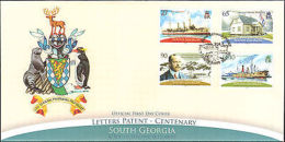 2008 SOUTH GEORGIA FIRST DAY LETTERS PATENT + PAMPHLET - Stamps