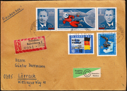 Germany DDR Potsdam 1965 / Space Cosmonauts / Microscope / Help For Vietnam - Storia Postale