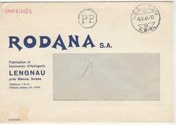 Cover * Switzerland * Lengnau * 1944 * Rodana S.A. - Cartas