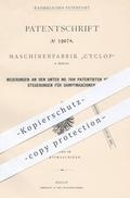 Original Patent - Maschinenfabrik Cyclop , Berlin 1880 , Ventilsteuerungen Für Dampfmaschinen | Motor , Motoren , Ventil - Historische Dokumente
