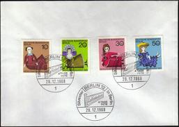 Germany Berlin 1968 / Dolls / Figures / Wohlfahrtsmarken / Welfare Stamp / Silvester In Berlin - Puppen