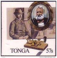 TONGA Cromalin Proof 1989 - Shows Morse Code And Telegraph - 4 Exist - Last One - Telekom