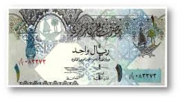 QATAR - 1 Riyal - ND ( 2003 ) - Pick 20 - Serie E/16 - Three Birds - 2 Scans - Qatar