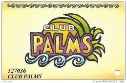 Palms Casino Las Vegas NV - TEMPORARY Club Palms Card - With Phone#s On Back - Casino Cards