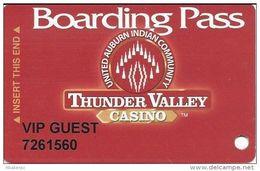 Thunder Valley Casino Lincoln CA - Slot Card @2003 No Signature Strip - VIP GUEST - Casino Cards