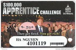 Trump Taj Mahal Casino Atlantic City NJ - Slot Card - 50 Plus Club Short Barcode - Casino Cards