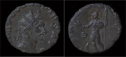 Claudius II Gothicus Billon Antoninianus Virtus Standing Left - 5. L'Anarchie Militaire (235 à 284)