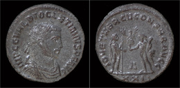 Diocletian Silvered Antoninianus Jupiter Standing Right - 6. La Tétrarchie (284 à 307)