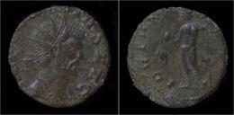 Claudius II Gothicus Billon Antoninianus Jupiter Standing Left - 5. L'Anarchie Militaire (235 à 284)